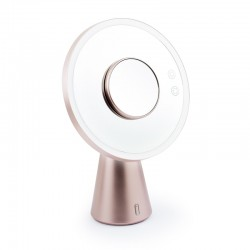 BE GOLD MIROIR 3 EN 1 AVEC LUMIERE LED ENCEINTE BLUETOOTH DE YOGHI