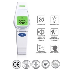THERMOMETRE FRONTAL NUMERIQUE – NORME MEDICAL 93/42/EEC UFR106